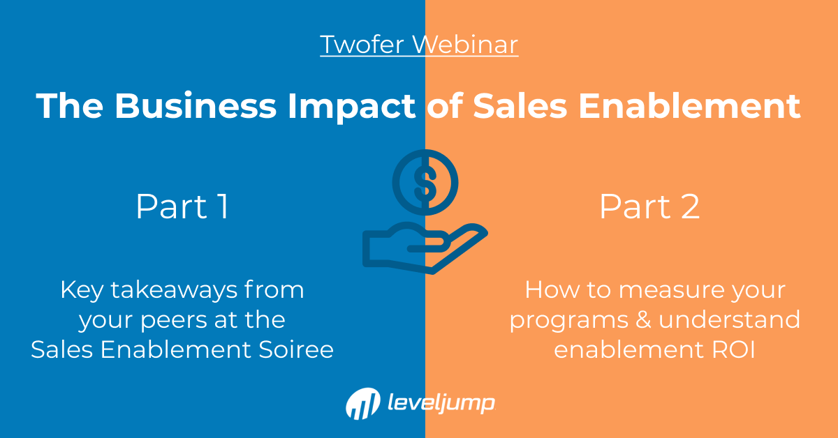 The Business Impact of Sales Enablement Two Part Webinar Serie